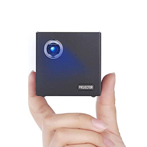 MHCYKJ Mini Proyector para Home, Portable 1080P HD Smart Projector Wireless Misma Pantalla Conexión de Cable HDMI Proyección para Laptop PC TV