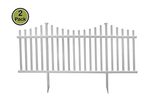 Zippity Outdoor Products Manchester Semi-Permanent Vinyl Fence Kit (2 Pack), 42' x 92'