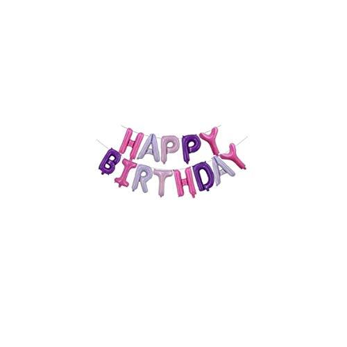 Suministros Globo de Cine Feliz Cumpleaños aluminio Decoraciones del partido Globo película de aluminio de cumpleaños para niños y niñas Foto grande Puntales imagen Cabina grande Adornos de 16