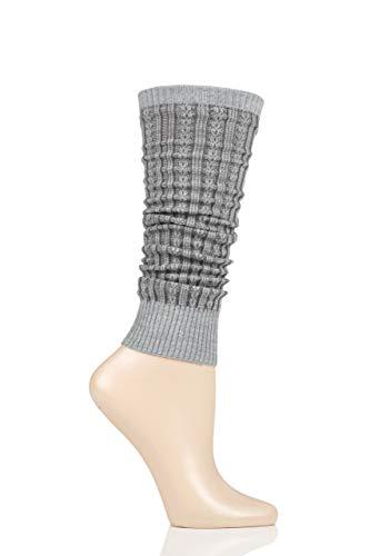FALKE Damen Chain Stitch W AW/LW Socken, grau (Light Grey 3770), Einheitsgröße
