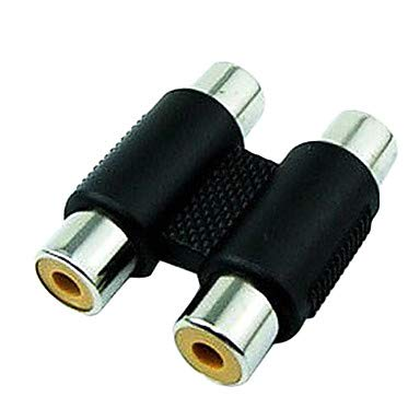 QAZSE ALIP 0,1 m 0.328ft 2 RCA-bus op 2 RCA audio-video-bus tv-aansluiting