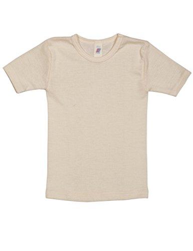Engel, Unterhemd kurzarm, Wolle Seide, Natur, Gr. 104