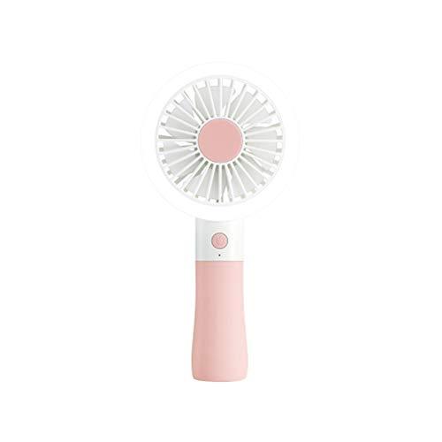 XRX Luz De Relleno Ventilador Pequeño De Mano Macaron Carga Creativa Moda Simple Mini Ventilador De 2 Velocidades