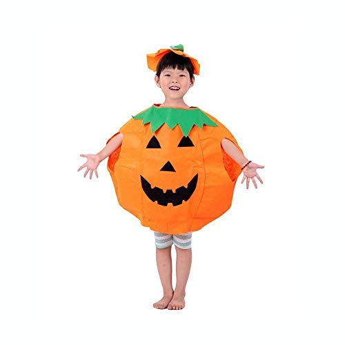 partysanthe unisex halloween pumpkin costume kids children halloween party outfit 2 to 9 yrs- Multi color