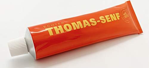 1 x 125ml Tube echter Iserlohner Thomas Senf - aus braunen & gelben Senfkörnern, grob vermahlen - Originalrezeptur von 1895 - Regionales Produkt