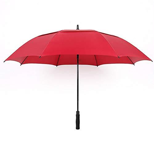 Golf-Regenschirm Doppel-Golfschirm erhöhen Werbegeschenk Regenschirm, rot