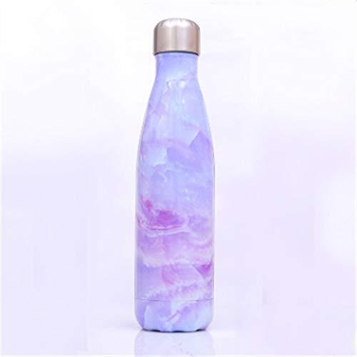 XGQ Térmica Copa Frasco de vacío de Calor del Agua de Botella portátil de Acero Inoxidable Deportes Caldera, Capacidad: 500 ml (Azul Turquesa) (Color : Magic Purple)