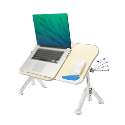 LiRuiPengBJ GWDJ Lapdesks Faltbarer Laptop-Schreibtisch, Höhenverstellbarer Laptop-Ständer, Tragbarer Notebook-Steh-Frühstücks-Leseschreibtisch für Sofa-Couch-Boden (Color : Gray)