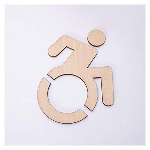 WGD Shuzi 1 Pc 15 X 19 cm 3D Acryl Rolstoel Toegankelijk voor gehandicapten Toilet Spiegeldeur Sticker/Wandbord Restaurant Toilet Indicator Plaat Wc Sticker