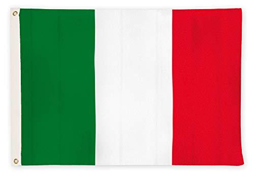 Aricona Italien Flagge - Italienische Nationalflagge 90 x 150 cm mit Messing-Ösen - Wetterfeste Fahne für Fahnenmast - 100% Polyester