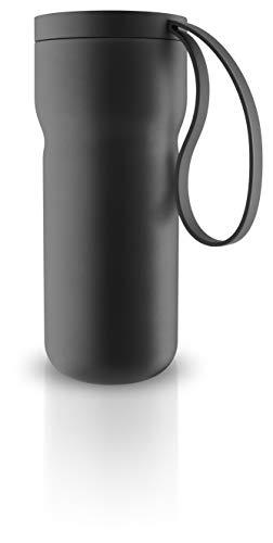 Thermo-Teebecher mit Teefilter, schwarz pulverbeschichtet H 18cm Ø 7,3cm