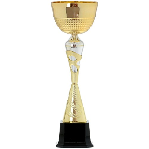 pokalspezialist Wanderpokal Brest mit Gravur Pokal Trophäe 1,5 kg schwer 50cm groß