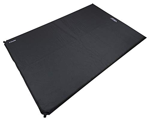 Andes Explora 5cm Double Self Inflating Camping Mat/Mattress Black