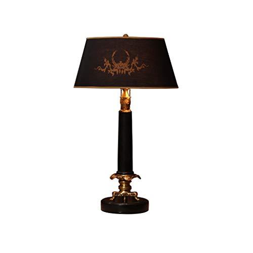 NYKK Nachttischlampen Schwarze Marmor Tischlampe Hotel Lobby Schreibtischlampe Villa Schlafzimmer Arbeitszimmer Raum Leselampe Wohnzimmer Nachttischlampe Licht für Schlafzimmer