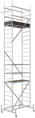 ALTEC Rollfix® 1.0 700 | 7m AH | Rollen (Ø125mm) | Standardtraverse | Made in Germany | TÜV&GS | belastbar 200kg/m² | Alu Arbeitsgerüst | Baugerüst | Fahrgerüst