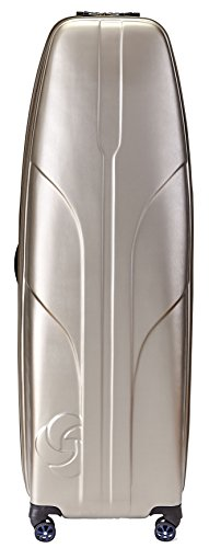 Samsonite Primo Deluxe Hard Sided Golf Travel Cover, Gold, One Size