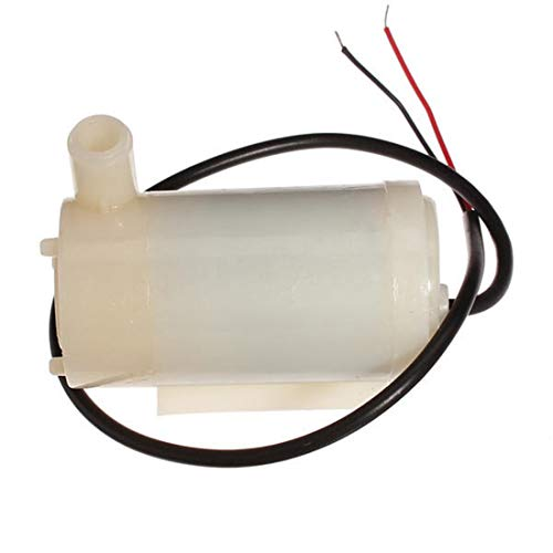 Formulaioue Bomba de Agua Micro Sumergible y anfibia DC Motor Bomba de Agua 3V 120L / H Bajo Ruido - Blanco