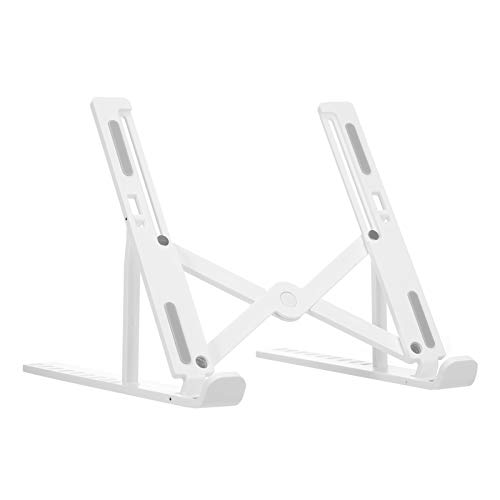 Festnight Portable Laptop Stand, Foldable Height Adjustable Support Base Computer Cooling Bracket Riser for Windows & Mac devices