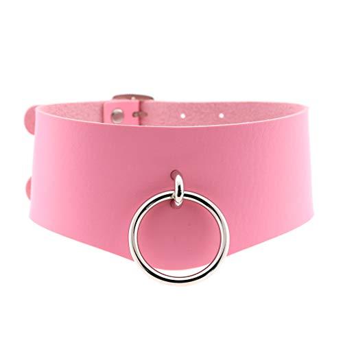 Mädchen-Schal, Punk-Ring, schönes Halsband, Pink