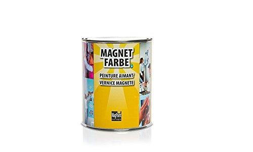 Magnetfarbe - magnetische Wandfarbe, überstreichbar - 1000ml, für Kinderzimmer, Wohnzimmer, Schlafzimmer oder Büro