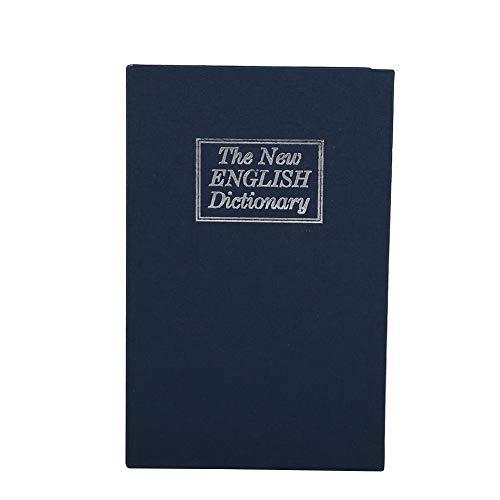 Caja fuerte para libros con cerradura de combinación, diccionario, desvío de libros, dinero seguro, joyería, taquilla oculta, 4.5 x 2.1 x 7 pulgadas(Azul oscuro)