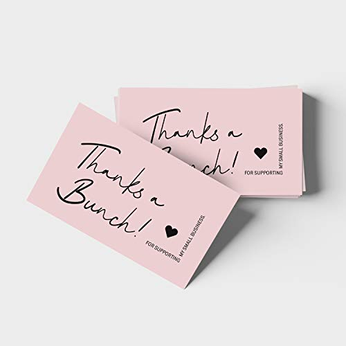 """ORMAT Thank you cards small business 2""""x3.5"""" thank you for supporting my small business cards premium quality and design thank you business cards 100 pack (Style #2)"""