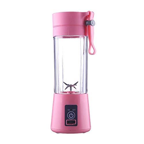 Draagbare 4 messen blender juicer cup usb oplaadbare elektrische automatische groente fruit citrus sap maker cup mixer fles nieuw, roze