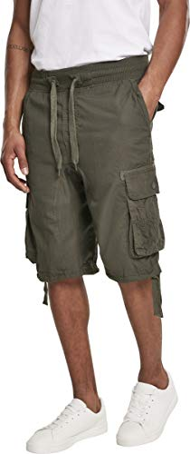 Southpole Herren Jogger Shorts W/Cargo Fine Twill, Olive, 2XL