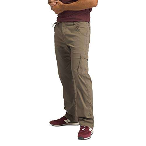 prAna - Men's Stretch Zion Lightweight, Durable, Water Repellent Pants for Hiking and Everyday Wear, 32' Inseam, Mud, 28