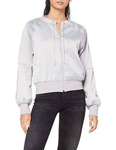 adidas St Glam Covup Jacke Chaqueta para Mujer, Color Gris/Blanco, Extra-Small