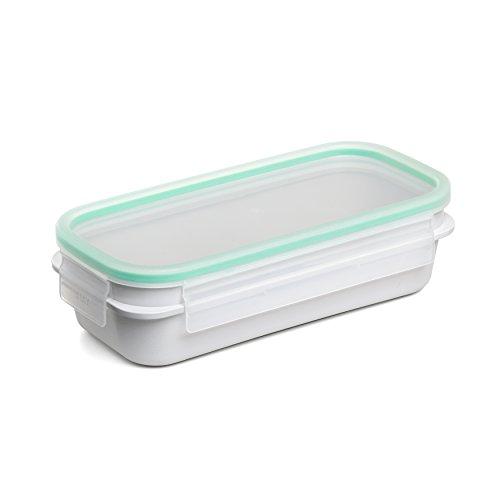 Tatay Fiambrera de Alimentos, Hermética, 0.75L de Capacidad, Tapa de Clip, Libre de BPA, Apto Microondas y Lavavajillas, Color Verde - Opaco. Medidas: 21.2 x 10.4 x 5.9 cm