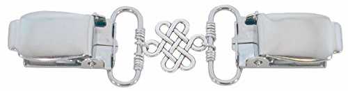 Better Than Buttons Silver Celtic Knot Cardigan Clip