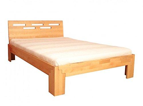 Coemo Massivholz Bett 140x200 Holzbett Birke Natur geölt Kopfteil Einzelbett Gestell