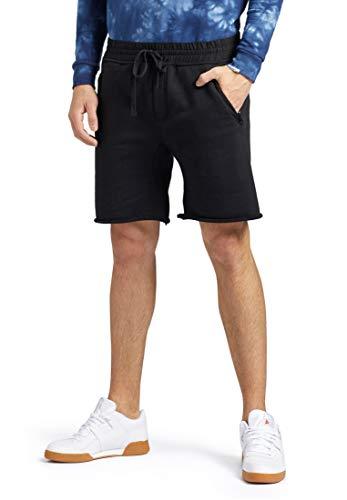 Khujo heren shorts AERO van puur katoen met ritszakken korte broek met trekkoord aan de broekband