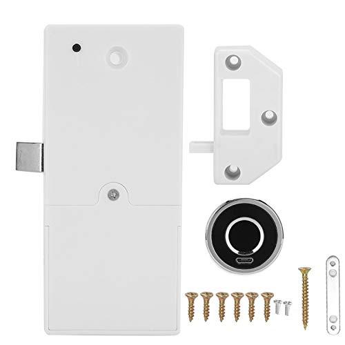 Candado de huellas dactilares, cerradura de huellas dactilares abierta ultraligera de un toque con carga USB para casillero, gimnasio, puerta, armario, maleta, mochila