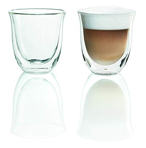 De'Longhi 5513214601 Isolierte Cappuccino-Glas 2er Set