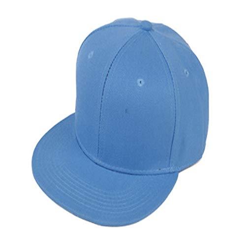 Salvaje Coreano Retro Color sólido Gorra de béisbol Gorra Plana Sombrero monopatín Sombrero de Hip-Hop 蓝色 蓝色 Ajustable