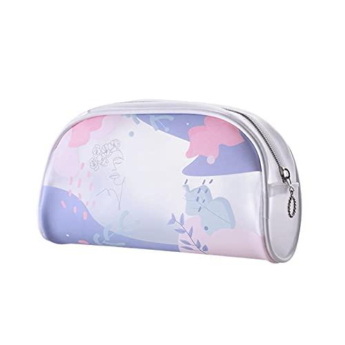 ANGLD-duradero Bolso cosmético, bolso de almacenamiento cosmético portátil Forma Bolsa de almacenamiento Bolsa de cosmética, cremallera de bolsillo abierto, Exquisito (Color : Forest Girl)