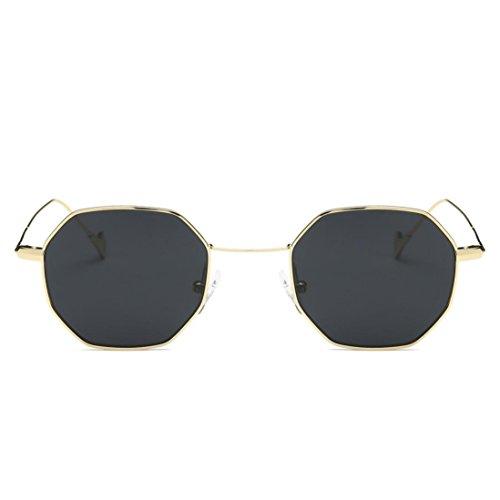 OVERDOSE Unisex Sommer Frauen Männer Moderne Modische Spiegel Polarisierte Katzenauge Metallrahmen Sonnenbrille Brille Damensonnenbrille Herrensonnenbrille (D)