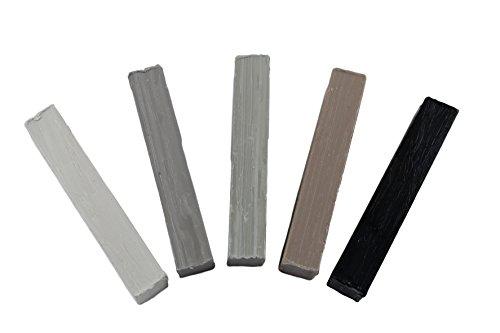 SN-TEC Weichwachs Sortiment für RAL-Töne, Grau (Set mit 5 Stangen)