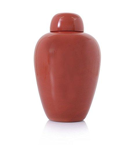 VENINI chinesischen Vase mit Deckel putiche Hohe Rot antik von Carlo Schuh 51304
