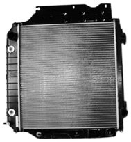 TYC 2102 Compatible with JEEP Wrangler 1-Row Plastic Aluminum Replacement Radiator