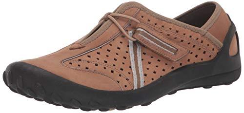 Clarks Women's TEQUINI Sneaker, Brown Nubuck, 75 W US