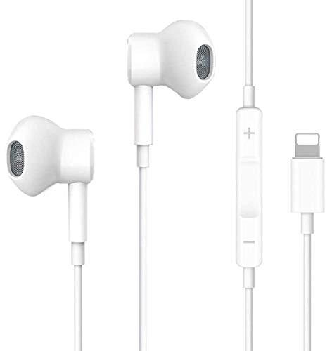 QSSTECH Écouteurs Intra-Auriculaires pour iPhone 11, écouteurs stéréo HiFi pour iPhone 7, filaires avec Micro et contrôle du Volume compatibles avec iPhone SE/12/11 Pro Max/X/XS Max/XR/8/7 Plus