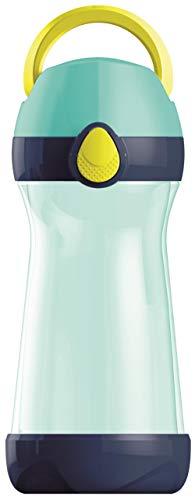 Maped Picnik Concept - Gourde Enfant avec Capuchon et Poignée - Système Anti-Gouttes et Étanche - Nettoyage Facile - Gourde Anti-Fuite Enfant - Plastique sans BPA - Bleu Vert - 430 ml
