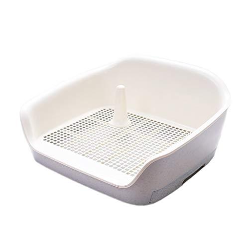 LT Großes Haustier-Abfallbehälter-Ineinander greifen-Hundetoilette mit dreiseitiger Zaun-Trainingsauflage der Fach-einfach zu säubern (Color : Gray)