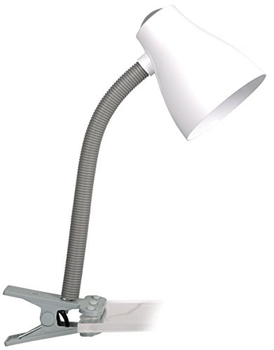 Smartwares Manou Klemmleuchte, E27, 10 W, grau, 405 x 115mm