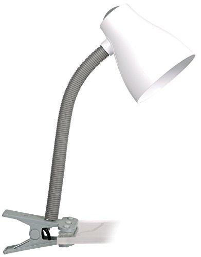 Smartwares 6000.631 Manou Lampada da tavolo – Attacco ES/E27 – Flessibile – Grigia e bianca