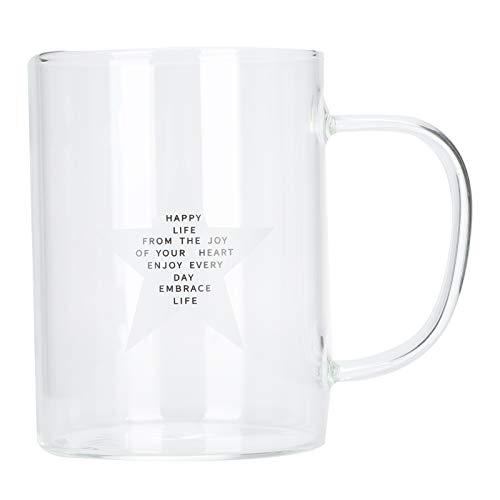 Glaskopp, transparent elegant kaffemugg för kök(Five-pointed star)