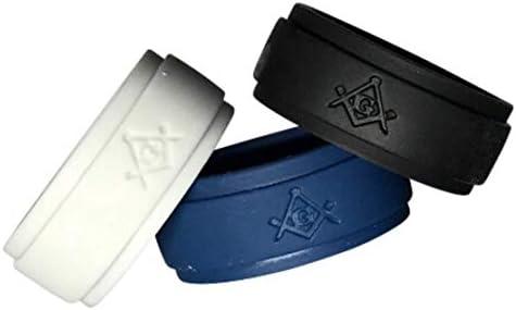 Masonic Ring Silicone Multi 10 product image